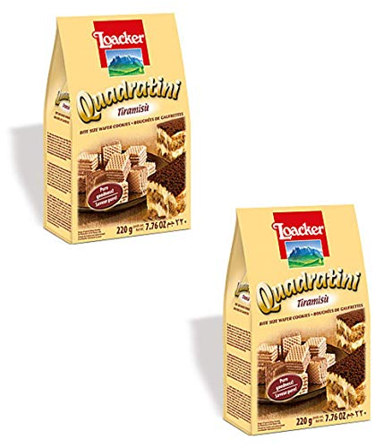 Loacker Tiramisu - Loacker Wafer Quadratini Tiramisu, 7.76 oz 2-Pack