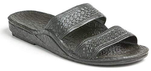 Pali Hawaii Adult Classic Jandals Sandals (Black, 8 B(M) US)