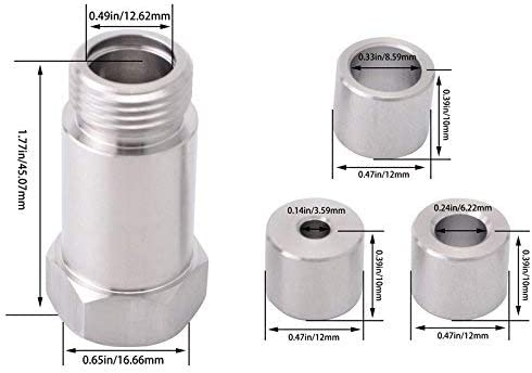 EVIL ENERGY M18 x 1.5 O2 Oxygen Sensor Restrictor Fitting Adjustable Gas Flow Inserts Cel Fix Bung