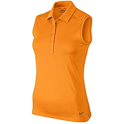 Nike Victory Solid Sleeveless Golf Polo 2016 Ladies Bright Ceramic X-Large