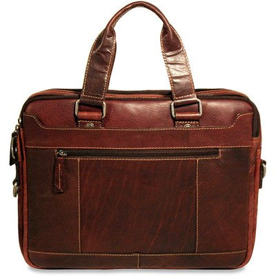 Used, Voyager Double Entry Top Zip Briefcase Color: Brown for sale  Delivered anywhere in USA