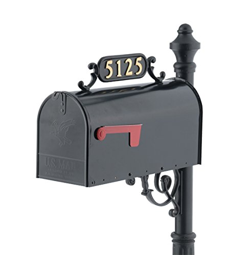 Williamsburg Mailbox Address Plate, Style 1 (Charleston)