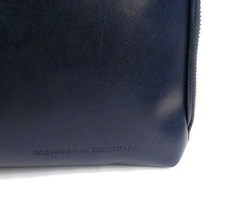 Zerimar Damen Leder Aktentasche Umhängetasche mit großer Kapazität Weiches Leder laptop leder tasche frau Tasche für Dokumente Größe 35x22x16 cm Marineblau