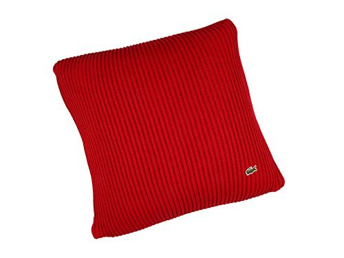 Lacoste Cardigan Rib Cushion 18x18 Throw Pillow, Chili Pepper