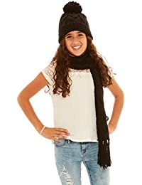 Crush Girls Winter Classic Cable Knit Hat   Scarf Sets c2d94459d722