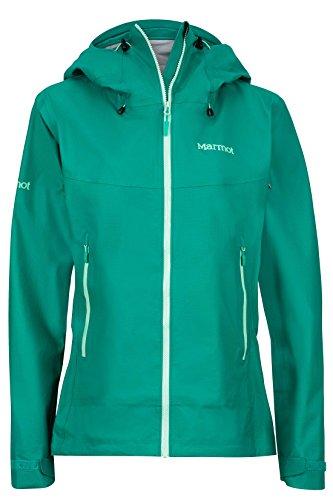 Garnet Womens Jacket - Marmot Starfire Women's Lightweight Waterproof Hooded Rain Jacket, Green Garnet, Small
