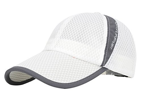 Waterproof Collapsible Motion Hat Fishing Jungle Hat Outdoor Sunscreen Baseball Cap Long Brim Cap Fishing Hat for Fishing Hunting Camping Swimming Hiking One Size Fit Most White
