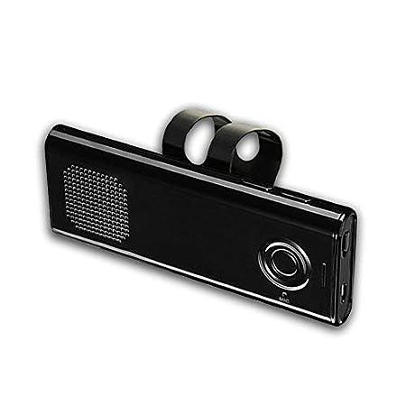 YETOR auto vivavoce,altoparlante portatile per auto, Costruire in Mic per Chiamate Viva voce, e Musica, Supporto per aletta Parasole, Può Collegare due Telefoni Simultaneamente (pro6-new) Può Collegare due Telefoni Simultaneamente (pro6-new)