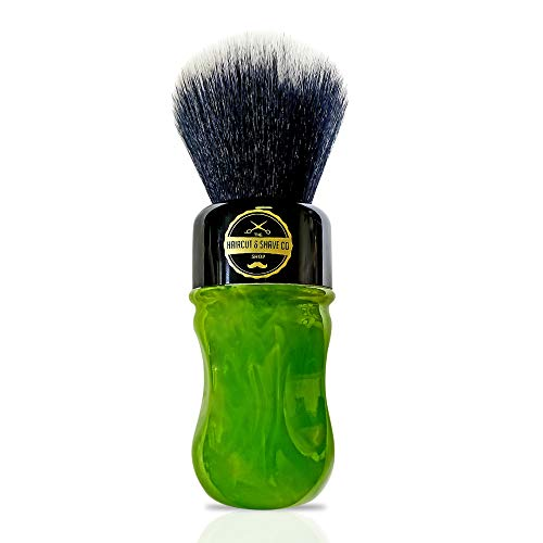 HAIRCUT AND SHAVE CO. Proven Synthetic Shaving Brush (green and black)