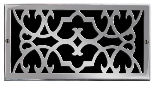 (Brass Elegans 120H PWT Solid Cast Brass Victorian 6-Inch by 12-Inch Air Return, Pewter Finish Model)
