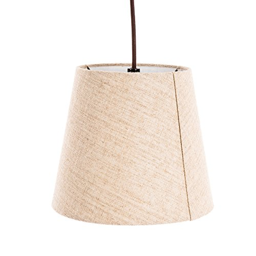 allen + roth 80-in Bronze 4-way Multi-head Floor Lamp with Fabric Shade