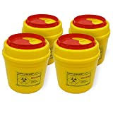 4-Pack Sharps Container(1/2 Quart),Sharps