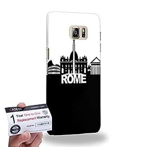 Case88 [Samsung Galaxy S6 Edge Plus] 3D impresa Carcasa/Funda dura para & Tarjeta de garantía - Art Fashion Rome Skyline