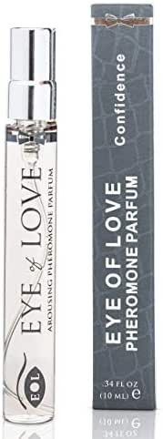 Eye of Love - Confidence Deluxe Pheromone Cologne - Travel Size - Cologne Spray to Attract Women - Bold - 10ml