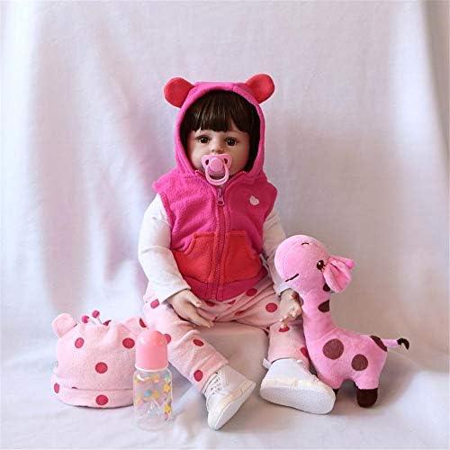 ZIYIUI Realistica Toddler Bambole Reborn Bambina Bambola Reborn Femmina Silicone Ragazza Capelli Lunghi Bambolotti Bambini Giocattoli Regalo 20 Pollice