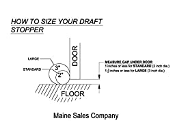 Door Draft Stopper Filled with Fragrant Balsam - Standard 2\