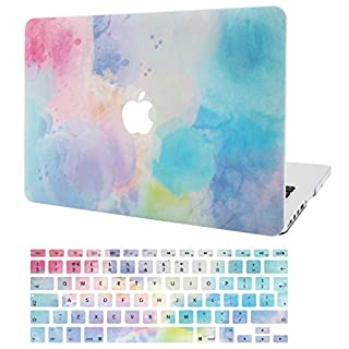 """KECC Laptop Case for MacBook Pro 16"""" (2020/2019) w/Keyboard Cover Plastic Hard Shell Case A2141 Touch Bar 2 in 1 Bundle (Rainbow Mist 2)"""