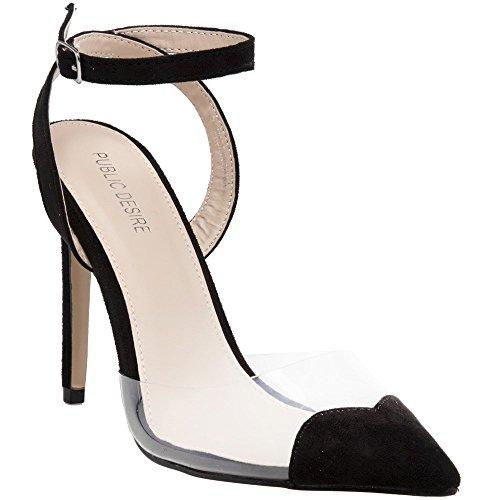 PUBLIC DESIRE Heart Throb Femme Chaussures Noir I1ii084
