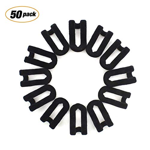 (Bondream 50 pcs Mini Cascading Hanger Hooks Connector for Stack Clothes and Make Your Closet Space-saving, Black)
