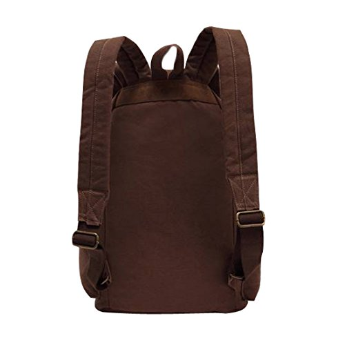 Men's BG004 Womens Unisex Mochila Lona Mujeres School Bag Jeansian BackPack Hombres Coffee Unisex Canvas YCxwXqp