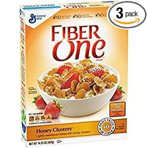 Fiber One Honey Clusters Lightly Sweetened Flakes 14.25 Oz. Pack Of - One Cereal Fiber