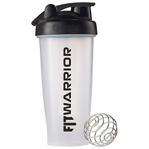 FIT WARRIOR Blender Bottle 28 oz, Clear, Callibrated, BPA-Free, The