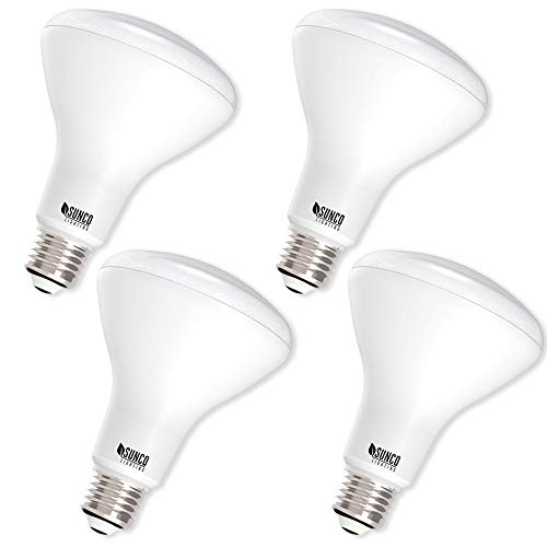 Sunco Lighting 4 Pack BR30 LED Bulb 11W=65W, 2700K Soft White, 850 LM, E26 Base, Dimmable, Indoor/Outdoor Flood Light - UL & Energy Star