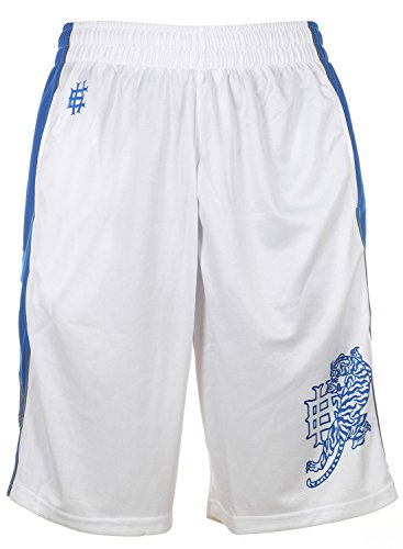 Ed Hardy Tiger Roar Mesh Shorts - White - Medium