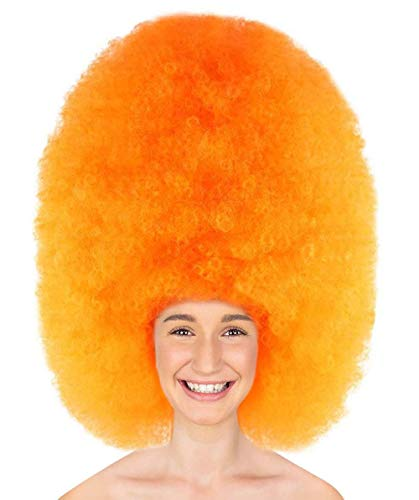 Halloween Party Online Super Size Jumbo Afro Wig Collection, Adult & Kids (Adult, -