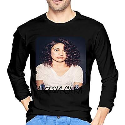 Caiondliil Mens Long Sleeve Shirts Logo of Alessia Cara Round Neck Shirt