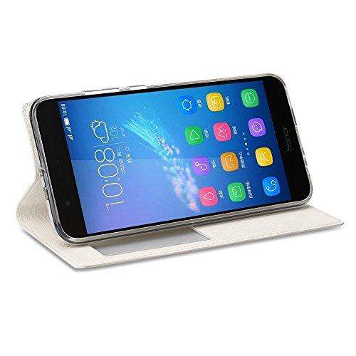 MEIRISHUN Carcasa Protectora Caso Silicona PU Funda Suave Soft Silicone Case Cover Bumper Funda Ultra Delgado Carcasa con para Huawei Honor 8 Pro - Blanco Blanco