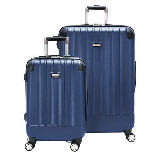RICARDO BEVERLY HILLS LIGHTWEIGHT POLYCARBONATE EXPANDABLE SPINNER 2PC SET BLUE LUGGAGE