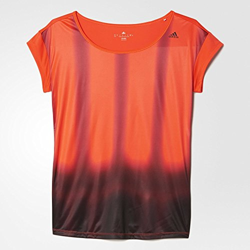 2 Graphic Adidas Para Rojo Camiseta Tee Negro Mujer 8gwqdwSE