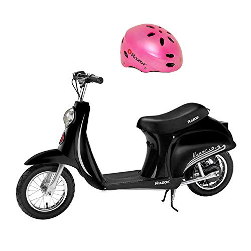 (Razor Pocket Mod Miniature Euro 24 Volt 250 Watt Electric Retro Scooter & Helmet )