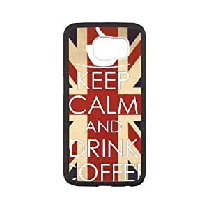Keep Calm Drink Coffee Samsung Galaxy S6 Cell Phone Case White Wbhsy