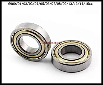 6909ZZ Metal Shielded Deep Groove Ball Bearing Diameter: 6907ZZ x1pcs 6906ZZ 6908ZZ 6907ZZ Ochoos 1-2pcs//Lot 6905ZZ