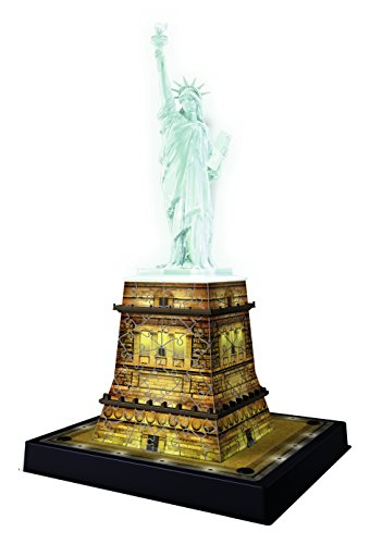 Edition Statue - Ravensburger Statue of Liberty Night Edition 108 Piece 3D Jigsaw Puzzle for Kids and Adults - Easy Click Technology Means Pieces Fit Together Perfectly
