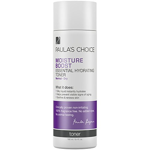 Paula's Choice Moisture Boost Essential Hydrating Toner, 6.4 oz. (1 Bottle) for Normal to Dry Skin of the Face and Neck, with Green Tea and Grape Seed Extract