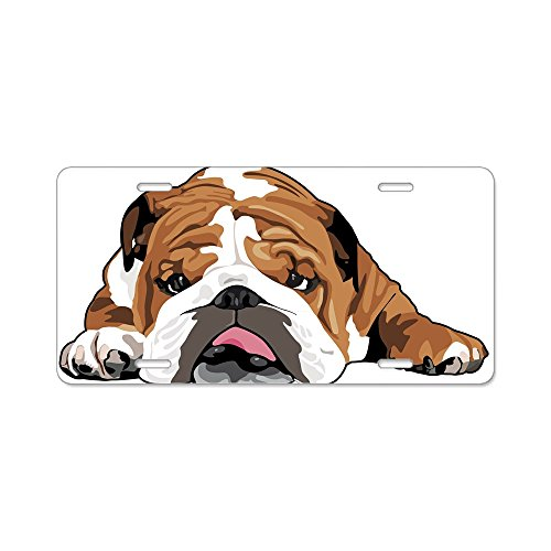 CafePress Teddy The English Bulldog Aluminum License Plate, Front License Plate, Vanity Tag