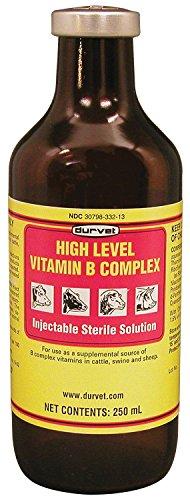 Durvet 101295 High Level Vitamin B Complex Yellow.250Ml