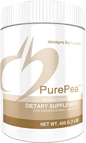 Designs For Health   Purepea Vanilla   Natural Pea Protein Isolate Powder  Vegan   Non Gmo Peas  1 Lb