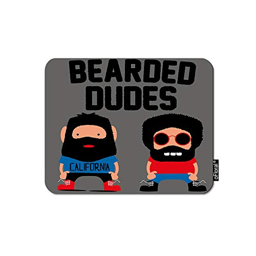 oFloral Bearded Dudes Mouse Pad Gaming Mouse Pad Mustache Monster Men Hipster Male Friendship Signs Decorative Mousepad Rubber Base Home Decor for Computers Laptop Office 7.9X9.5 -