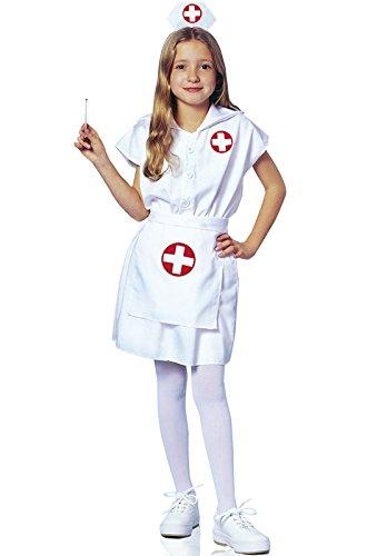Franco American Novelty Company Girls Little Nurse Costume, White, Child -