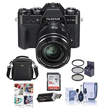 Fujifilm X-T20 Mirrorless Digital Camera Body, with XF 18-55mm F2.8-4 R LM OIS Lens, Black – Bundle with Camera Case, 16GB SDHC Card, 58mm Filter Kit, Cleaning Kit, Card Reader, Software Package Review