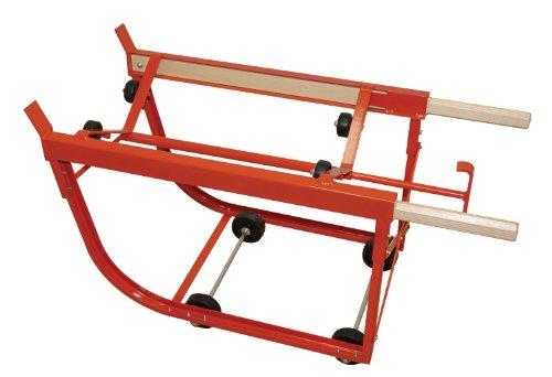 Wesco 240025 Deluxe Drum Cradle, Polyolefin Wheels, 1000-lb. Load Capacity, 19