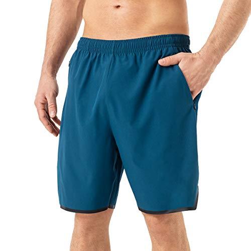 Mabove Herren Sport Shorts Kurze Hosen Laufhose Sporthose mit Reißverschluss Taschen für Running Outdoor Fitness Gym,Schnell Trocknend,Leicht