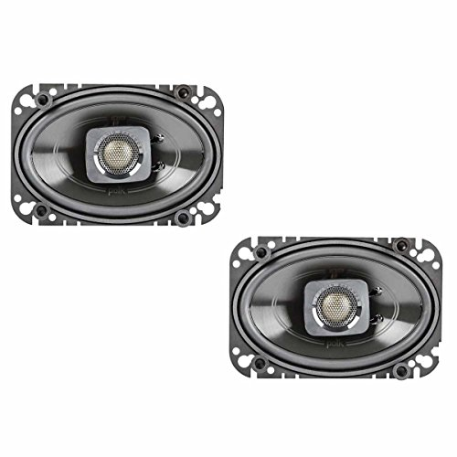 Polk Audio DB462 DB+ Series 4''x6'' Coaxial Speakers with Marine Certification, Black by Polk Audio
