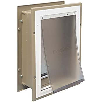 PetSafe Wall Entry Pet Door with Telescoping Tunnel Large Taupe and White  sc 1 st  Amazon.com & Amazon.com : PetSafe Wall Entry Pet Door with Telescoping Tunnel ...