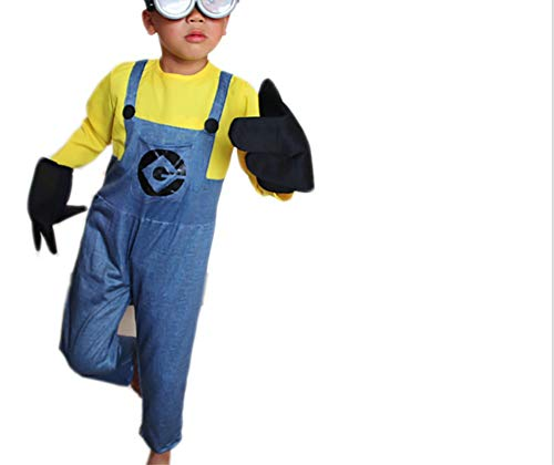 Homemade Minions Costume (Mitef Little Yellow Men Corps Halloween Cosplay for)