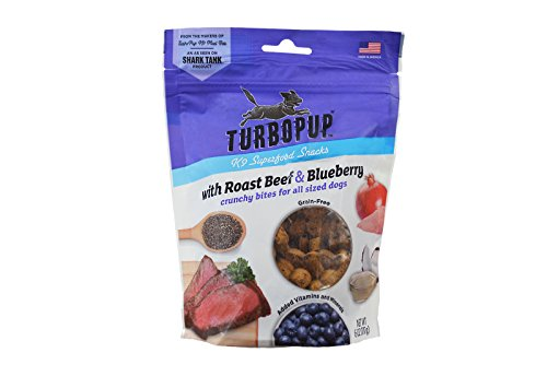 TurboPup by Fetch for Pets K9 Superfood Snacks, Roast Beef & Blueberry Treats, 6 oz.